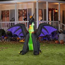 Gemmy Inflatable Halloween House by Gemmy 6 Ft Inflatable Lighted Dragon With Flaming Mouth 73012