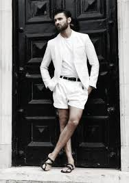 Summer Male All White Outfits