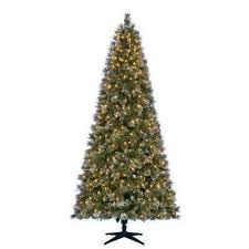 75 Ft Pre Lit LED Sparkling Pine Artificial Christmas Tree With 600 Warm White