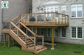 8x8 Pool Deck Plans by Medium Size High 1 Level Deck 1h6044 Decks Pinterest