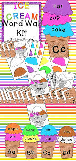 Enjoy Using This Vibrant And Yummy Ice Cream Cone Word Wall Kit To Make Your Classroom