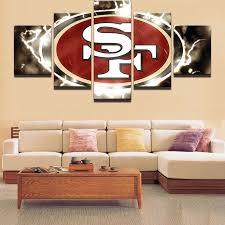 K20 5 Pieces Set San Francisco 49ers Canvas Print Free Shipping