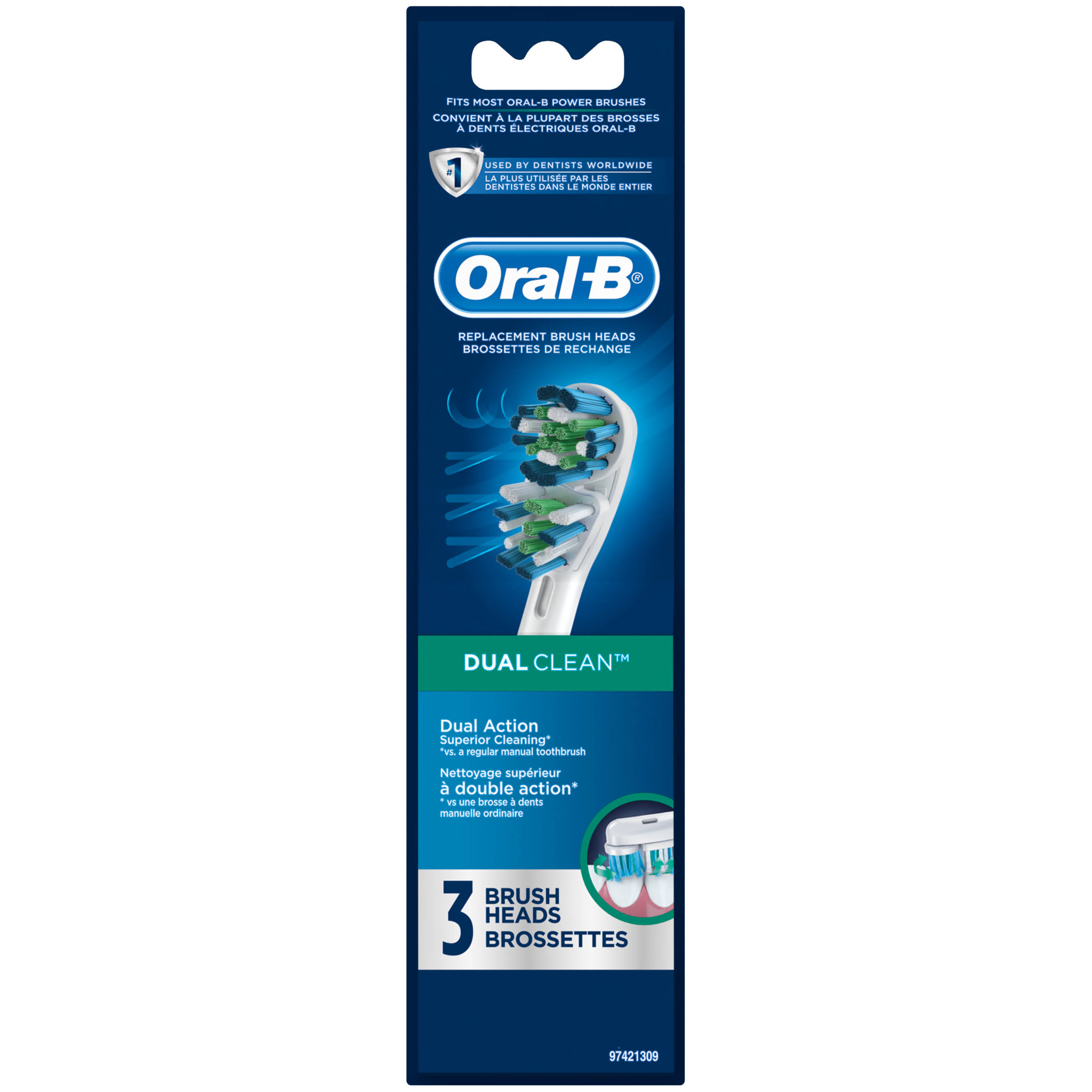 Oral-B Dual Clean Replacement Electric Toothbrush Head - 3pk