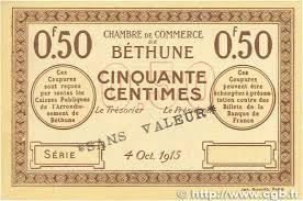 chambre de commerce bethune 50 centimes regionalism and miscellaneous béthune 1915 jp