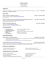 Objective For Engineering Resume New Manufacturing Engineer Fresh Examples