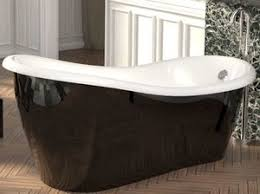 freistehende luxus badewanne jugendstil roma hellblau weiß