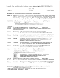 Resume Samples For Experienced Administrative Assistants Inspirationa Awesome Assistant Objective Sample Of In Examples