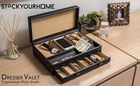 Dresser Valet Woodworking Plans by Amazon Com Stock Your Home Luxury Men U0027s Dresser Valet Organizer