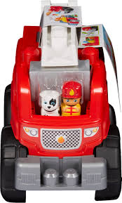 100 Fire Truck Red Mega Bloks Storytelling Rescue Building Set