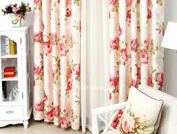 Brylane Home Lighted Curtains by Better Homes Curtains Country Red Floral Better Home And Gardens