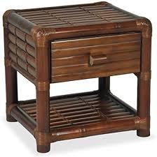 vidaxl nachttisch mit 1 schublade 1 ablagefach nachtschrank nachtkonsole nachtkommode schlafzimmer kommode schrank 45 45 40cm bambus dunkelbraun