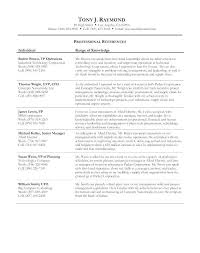 Reference Resume Examples Page Sample With References For