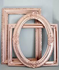 Set Of 3 Rose Gold Metallic Large Vintage Empty Frames Wedding Decor Bridal
