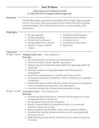 Resumes For Server Positions Bartender Resume Sample Job Description