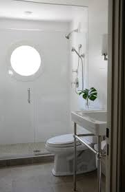 white subway tile shower bathroom transitional with glass shower