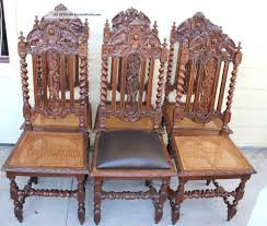 Antique Furniture: French Carved Antique Oak Louis Xiii ... Set Of Six 19th Century Carved Oak High Back Tapestry Ding Jonathan Charles Room Dark Armchair With Antique Chestnut Leather Upholstery Qj493381actdo Walter E Smithe Fniture 4 Kitchen Chairs Quality Wood Chair Folding Buy Chairhigh Chairfolding A Pair Of Wliiam Iii Oak Highback Chairs Late 17th 6 Victorian Gothic Elm And Windsor 583900 Hawkins Antiques Reproductions Barry Ltd We Are One Swivel Partsvintage Wooden Oak Wood Table With White High Back Leather And History Britannica
