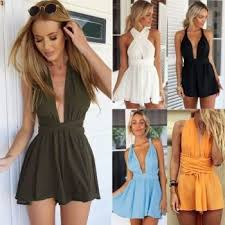 Women Fashion Casual Sexy Back Cross Strap Deep V Neck Sleeveless Backless High Waist Solid Chiffon