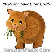 Wombat Paper Plate Craft From Daniellesplace