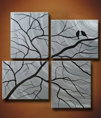 HALF OFF This Week Only Multiple Canvas Painting Of Birds In Trees 48 X Winter Secrets