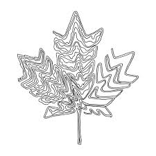 Abstract Line Drawing Page 5869 The Colouring Book Canadian Maple Leaf Canada 150 Logo Alternative Free Colour