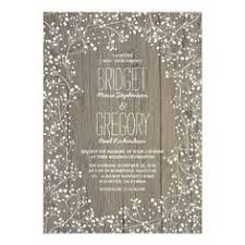 String Lights Rustic Wedding Invitations With Tree And Stones Path See More Country Babys Breath Card