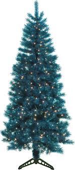 General Foam Plastics Mountain King Prelit Artificial Christmas Tree Teal Trans 4 Foot