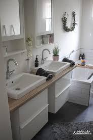 makeover badezimmer in grauem und weißem ikea