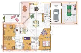 plan de maison plain pied 4 chambres grande maison 4 chambres avec terrasse garage et carport plans