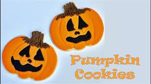 How To Decorate Halloween Pumpkin Cookies YouTube