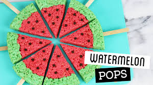 Rice Krispie Treats Halloween Shapes by How To Make Watermelon Rice Krispie Treat Pops Youtube