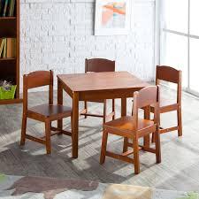 Kidkraft Star Childrens Table Chair Set by Kidkraft Farmhouse Table U0026 4 Chair Set Espresso Walmart Com