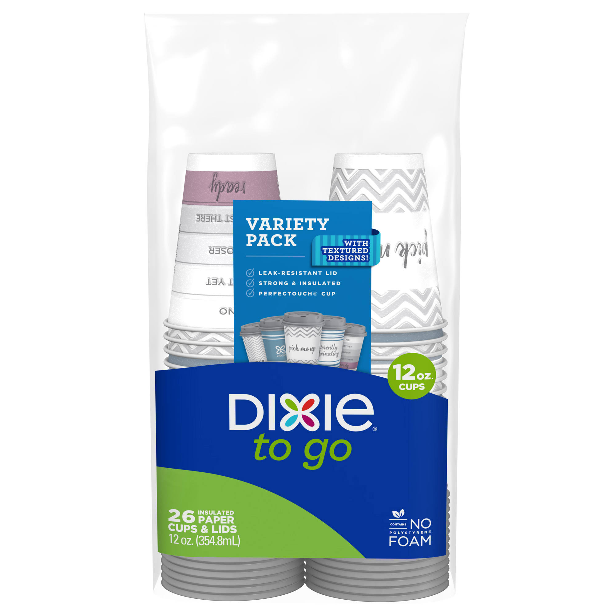Dixie To Go Cups & Lids - 12oz 26ct