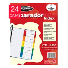 Wilson Jones Separadores 5 Divisiones Tamaño Carta Costco Mexico