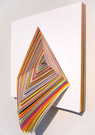 Triangle Shaped Wall Decoration Made Of Paper In All Rainbow Colors