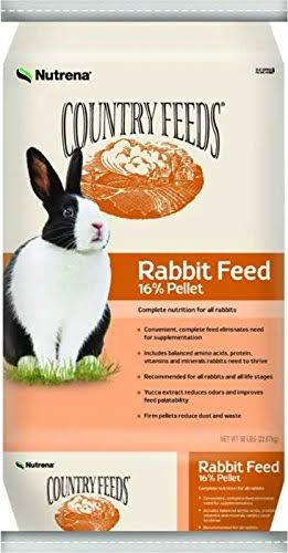 Nutrena Country Feeds 16 Percent Pellet Rabbit Feed - 50lbs