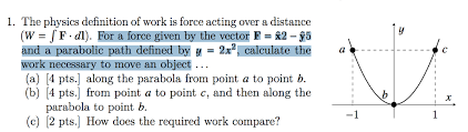 The Physics Definition Of Work Is Force Acting Over A Distance W J F