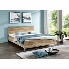 details zu schlafzimmer futonbett ehebett doppelbett bett plankeneiche 160 x 200 cm