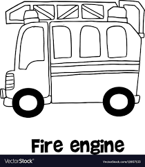 99 How To Draw A Fire Truck Step By Step Engine With Hand Draw Royalty Free Vector Image