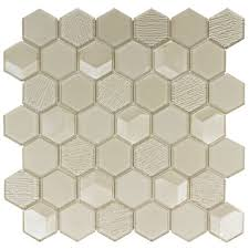 hexagon tiles glass mosaic and ceramic mineral tiles