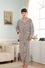 plaid pajamas men fashion flannel winter 2015 cotton pajamas sets