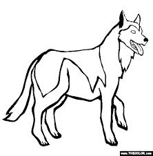 Siberian Husky Coloring Page