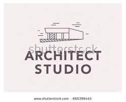 bureau simple vector flat architect bureau logo design เวกเตอร สต อก 666399445