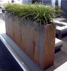 Corten Steel Planters Cotten Planter The Deck Outdoor Corten