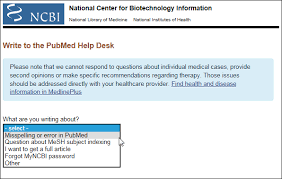Write to the PubMed Help Desk