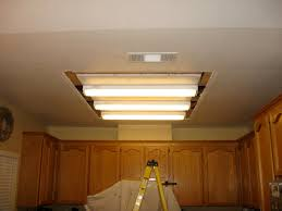 groß fluorescent light fixture kitchen replace lights with track