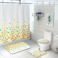 badezimmer duschvorhang böhmen teppich fuß pad deckel