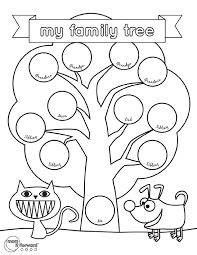 Stunning Family Tree Coloring Pages Printable
