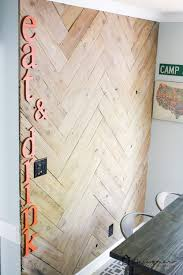 This DIY Plank Wall In A Herringbone Is AWESOME Love That