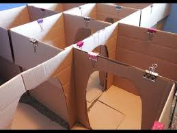 how to make a box maze for kids crafts for kids box house for
