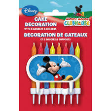 Mickey Mouse Bathroom Set Amazon by Amazon Com Mickey Mouse Clubhouse Cake Topper U0026 Birthday Candle